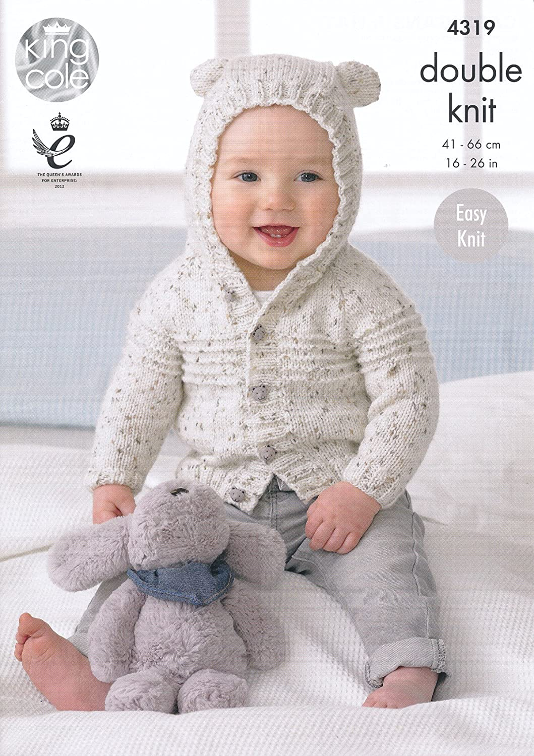 King Cole Double Knitting Pattern Baby Hooded Or Collared Cardigan