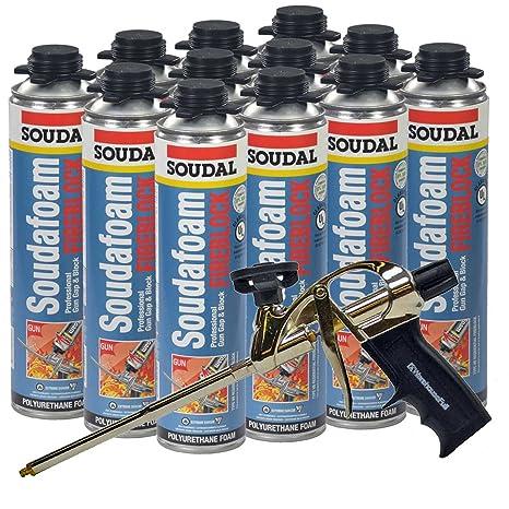 Soudal Pro fireblock espuma sellador 24 oz puede (sellado Caso de 12) + profesional