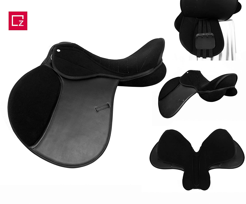 zain tack Self Adjust Synthetic GP Saddle 17', Black Color (17')