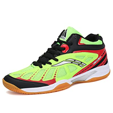 Fashiontown Athletic Mens Sneakers Badminton Shoes Non Slip Indoor Court  Outdoor Safety Training Shoe Green 91a4d5cdc