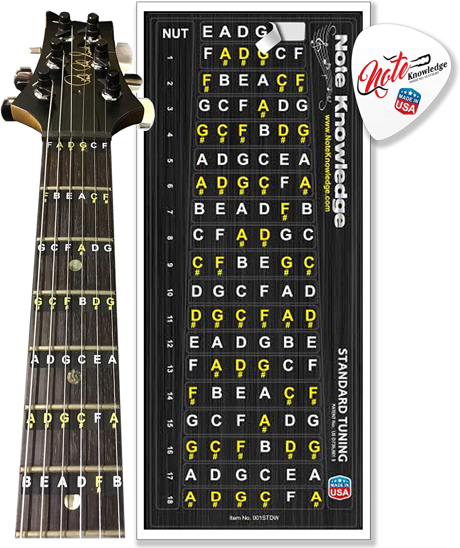 Griffbrett Note Label Aufkleber 4 String Bass Inlay Aufkleber Bass Gitarre