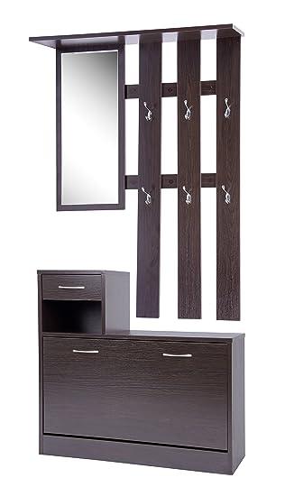 Ts Ideen Set Wand Garderobe Spiegel Schuhkipper Schuhschrank Mit