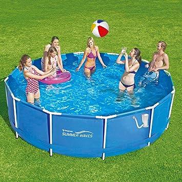 Summer Waves Frame Pool 366 x 91 cm Marco swimming pool Familias Piscina con bomba de filtro: Amazon.es: Jardín
