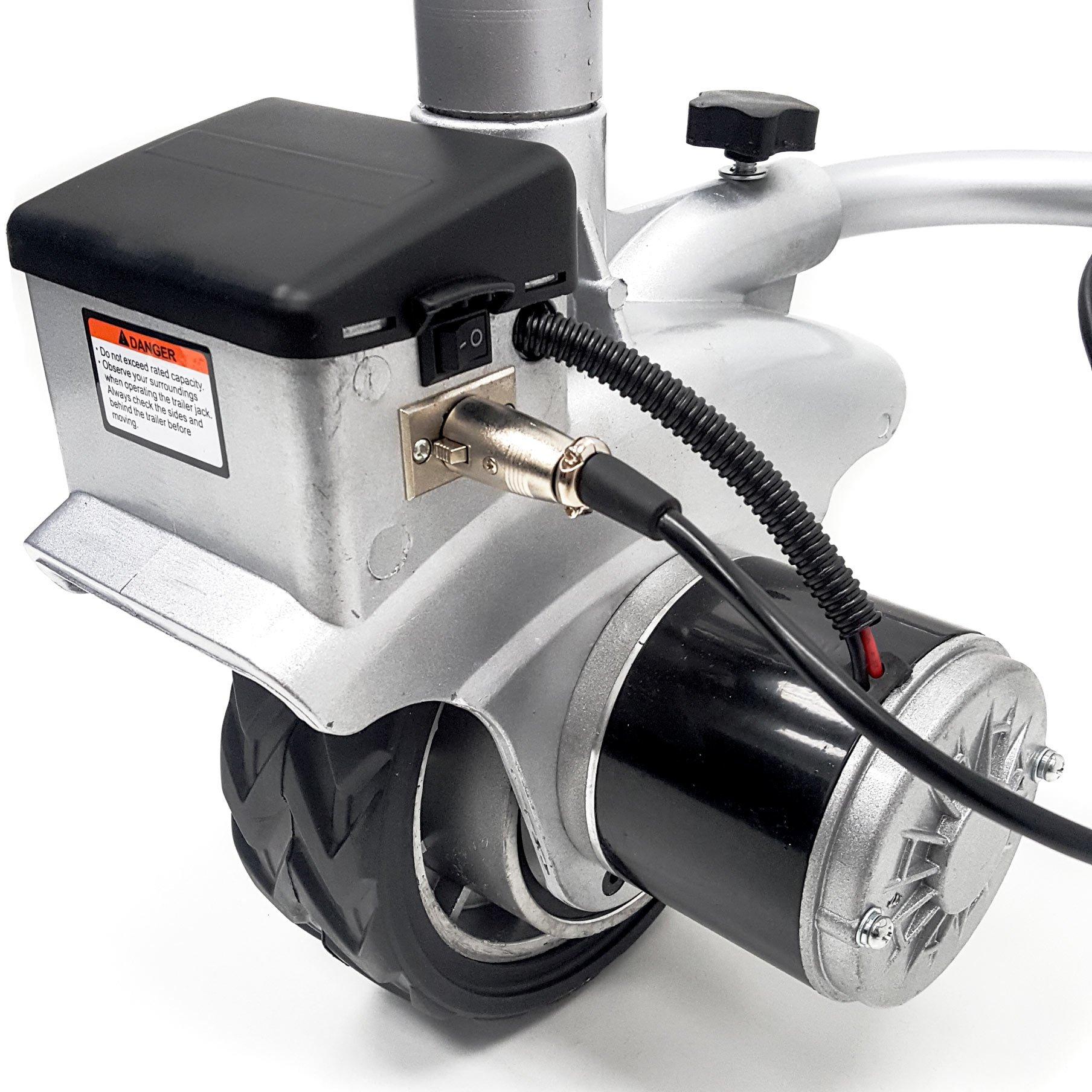 Biltek 12V Electric Mini Mover Jockey Wheel Caravan Boat Trailer Camper w/ Lock and Key + KMG Battery Included by Biltek (Image #7)