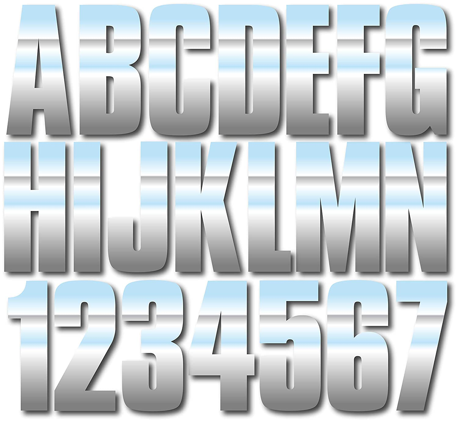 Stiffie Uniline Chrome 3 ID Kit Alpha-Numeric Registration Identification Numbers Stickers Decals for Boats /& Personal Watercraft