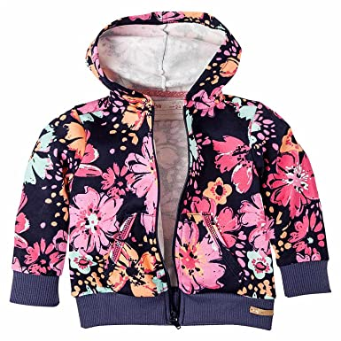OFFCORSS Toddler Girls Long Sleeve Zip Up Hoodie Sudaderas para Niñas Blue 2T