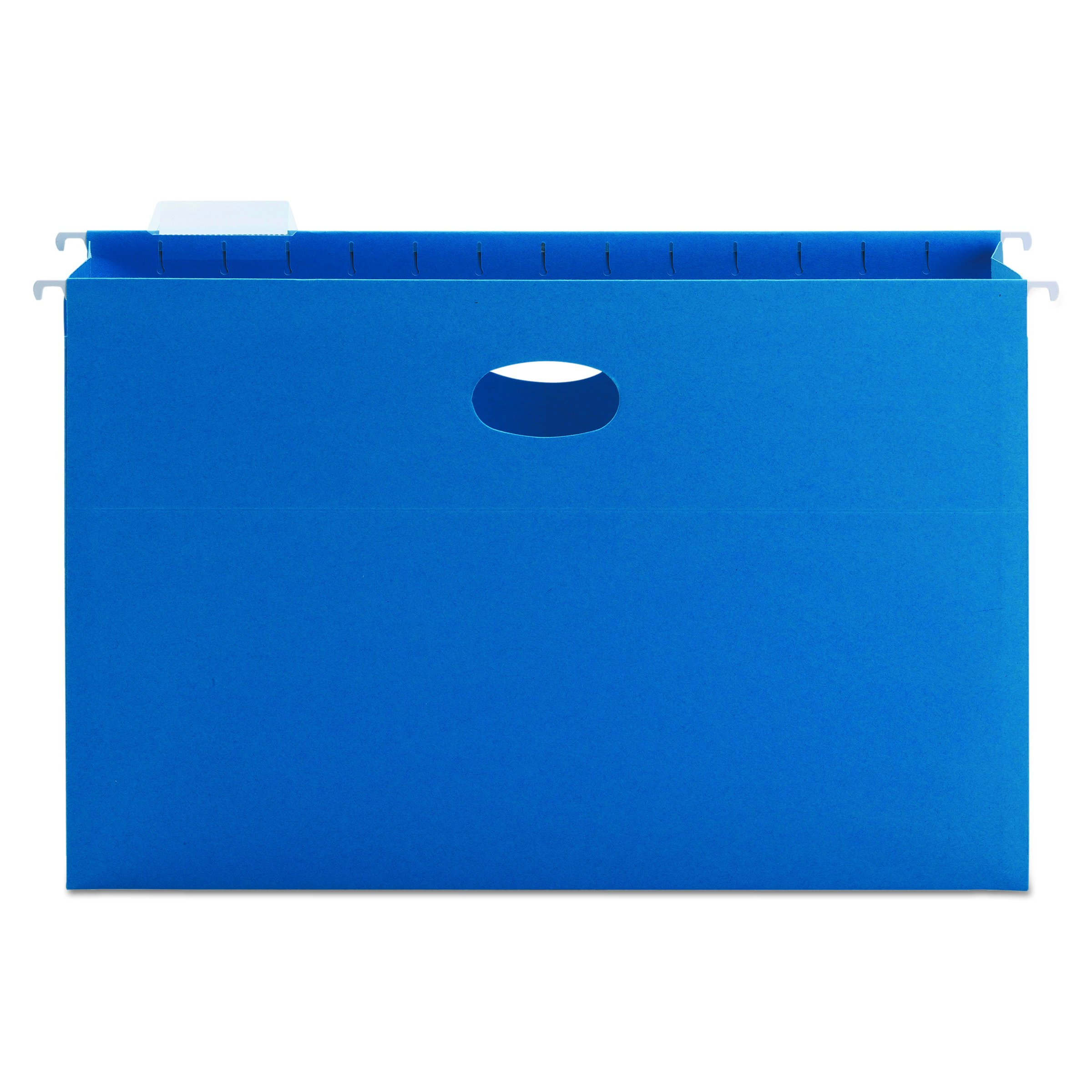Smead Hanging File Pocket with Tab, 3'' Expansion, 1/5-Cut Adjustable Tab, Legal Size, Sky Blue, 25 per Box (64370)