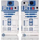 R2D2 Robot Pattern Slim Wallet Card Flip Stand PU Leather Pouch Case Cover For 2013 Apple iphone 5C