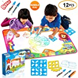 KAIIZAN Large Aqua Magic Mat 34X22 inch, Kids Toys, Water Drawing Mat Toddlers Writing Mat Educational Bonus Free Magic Pens