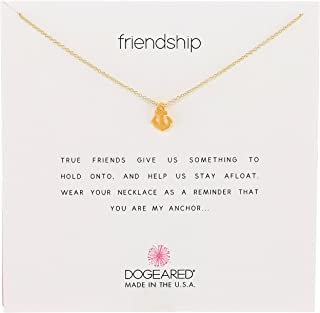 """product image for Dogeared Reminders-""""Friendship"""" Gold-Dipped Sterling Silver Anchor Pendant Necklace, 16"""" w/ 2"""" Extender"""