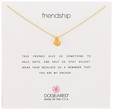 "Dogeared Jewels and Gifts Friendship Gold-Dipped Sterling Silver Anchor Pendant Necklace, 18"": Dogeared: Amazon.co.uk: Jewellery"