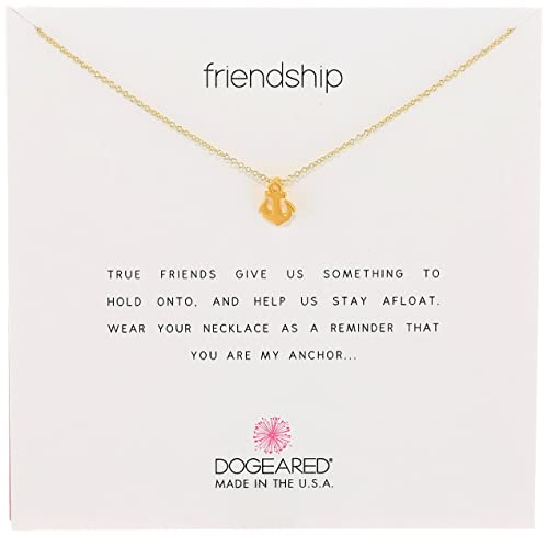 "Dogeared Jewels & Gifts""Reminder"" Gold Friendship Smooth Anchor Charm Necklace: Dogeared: Amazon.ca: Jewelry"