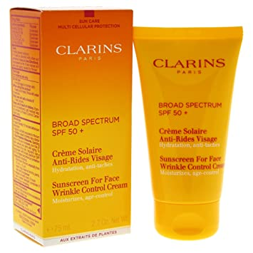 clarins sun cream face