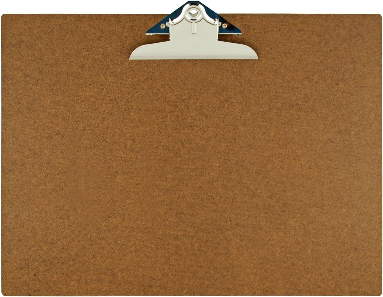 Amazon Com 17x11 Hardboard Clipboard With 6 Jumbo Board Clip Office Products
