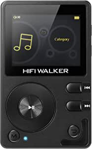 HIFI WALKER H2 High Resolution DAP Lossless Bluetooth FLAC WAV Digital Audio Player Portable with 16GB microsd Card and HD Audio Earphone (H2 High Resolution DAP)