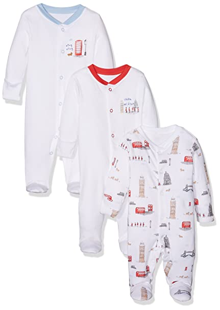 Mothercare Heritage, Pelele para Dormir Unisex bebé, Blanco (White 61), Nuevo