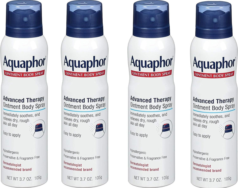 Aquaphor Ointment Body Spray - Moisturizes and Heals Dry, Rough Skin - 3.7 oz. Spray Can, 4 Pack