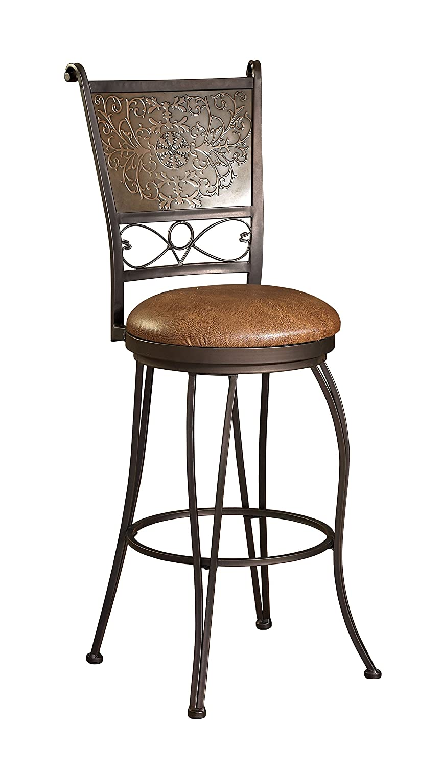 Amazon.com Powell Furniture Bronze with Muted Copper St&ed Back Bar Stool 30-Inch Kitchen u0026 Dining  sc 1 st  Amazon.com & Amazon.com: Powell Furniture Bronze with Muted Copper Stamped Back ... islam-shia.org