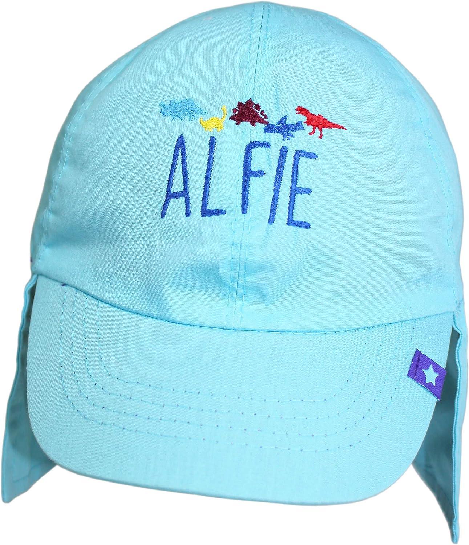 TeddyTs Personalised Blue Dinosaurs Legionnaire Sun Hat