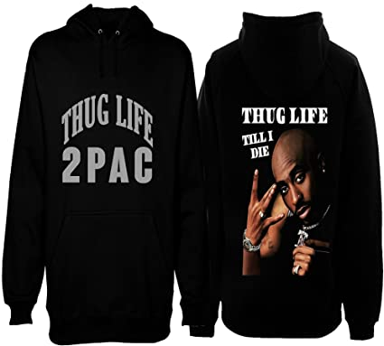 c6d5d082980 2Pac Thug Life Mens Heavyweight Pullover Hoodie Tupac at Amazon ...