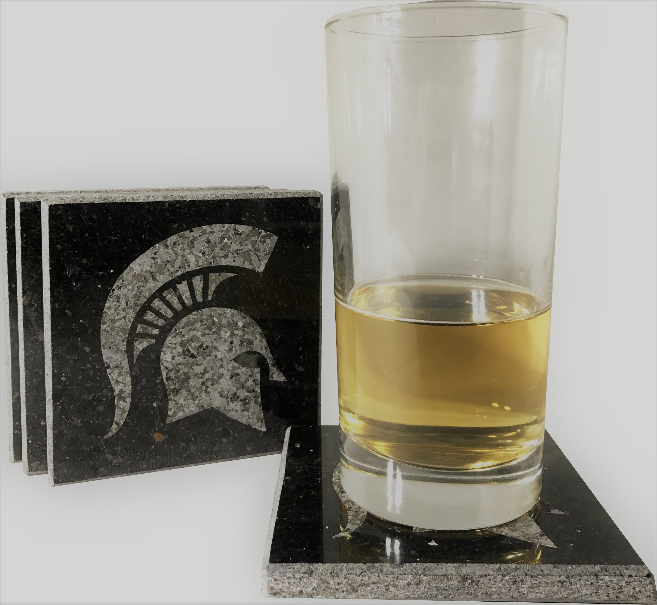Michigan State University Etched Granite Coasters