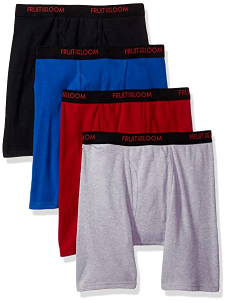 045a7c037c37 Fruit of the Loom Men's 4-Pack Premium Dri-Stretch Boxer Brief at Amazon  Men's Clothing store: