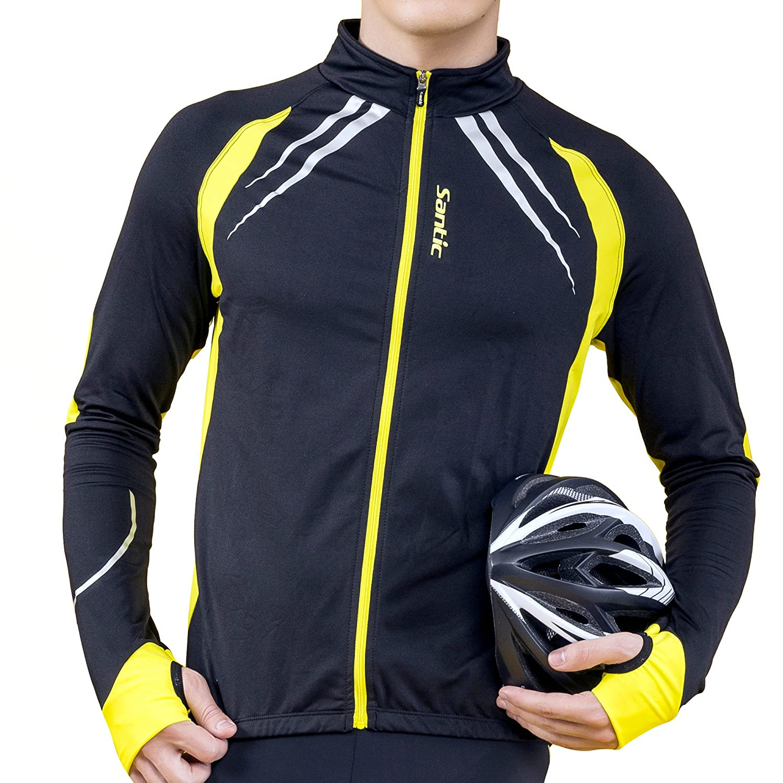 SANTIC Cycling Fleece Thermal Long Jersey Winter Jacket M5C01059V
