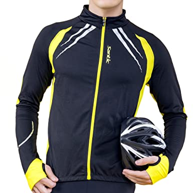 Amazon.com: SANTIC Cycling Fleece Thermal Long Jersey Winter ...