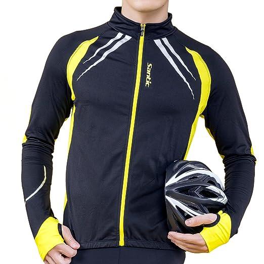 748254dc7 Amazon.com  Santic Cycling Fleece Thermal Long Jersey Winter Jacket  Sports    Outdoors