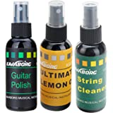 Rocktile GP-Complete Gitarren Pflegeöl SET inkl. Gitarrenpolitur, Saitenreiniger und Grifbrettöl (Guitar Polish, String Cleaner, Lemon Oil, Pumpspray, je 60 ml)
