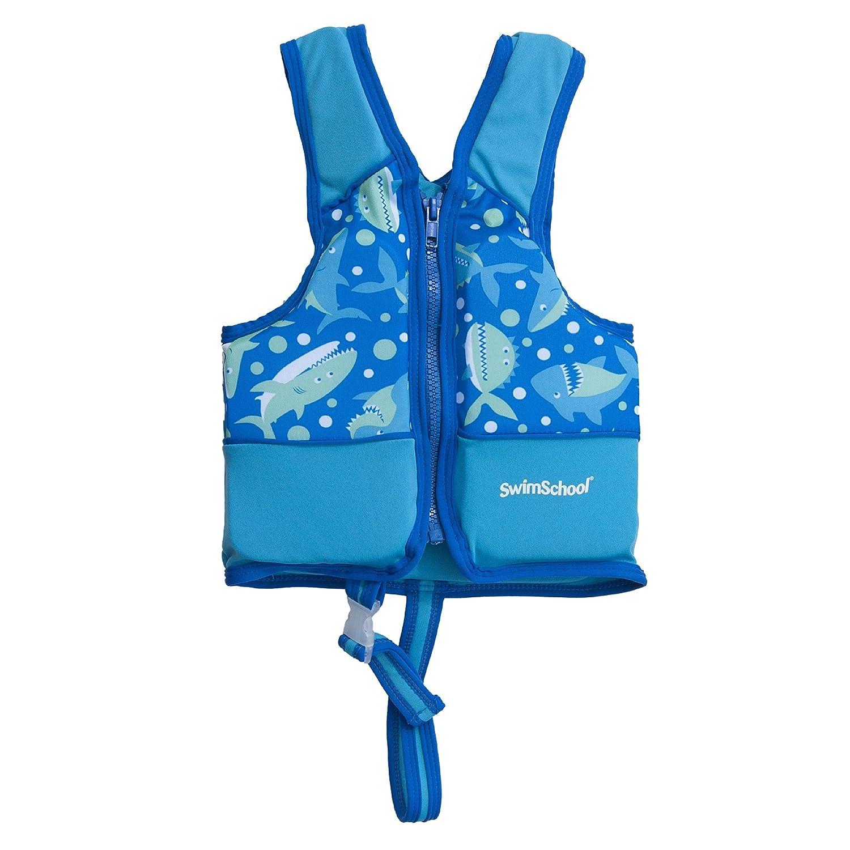 Aqua Leisure Boys Printed Swim Vest with Safety Strap, Medium by Aqua Leisure   B00V58GUQY
