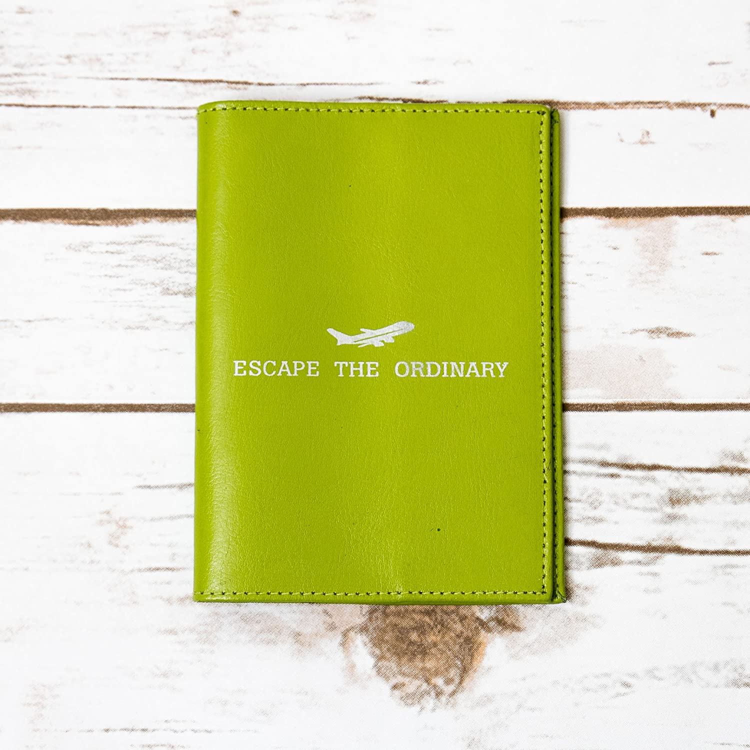 Escape The Ordinary Genuine Leather Passport Cover, Travel Accessories, Travel Wallet, Genuine Leather case cover - Securely Holds Passport, Business Cards, Credit Cards, Boarding Passes