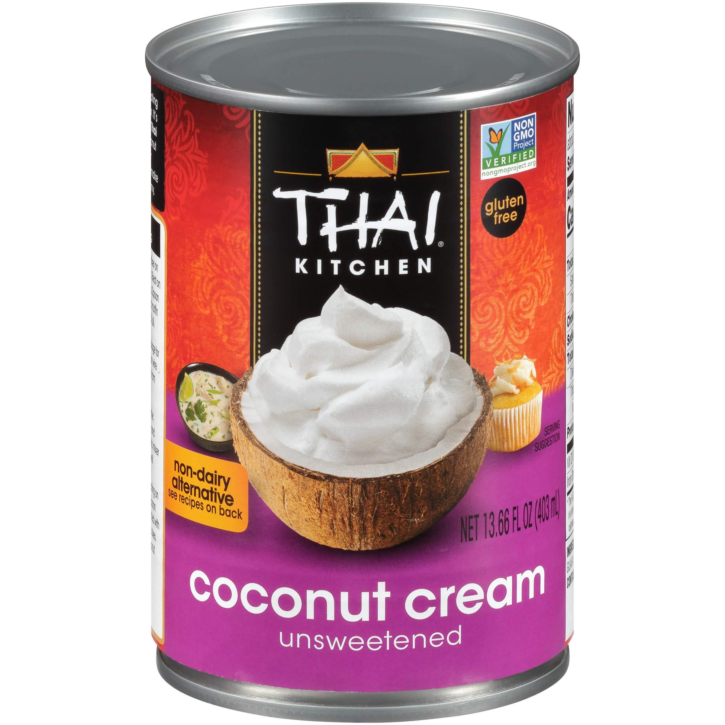 Thai Kitchen Gluten Free Unsweetened Coconut Cream, 13.66 fl oz (Pack of 6)