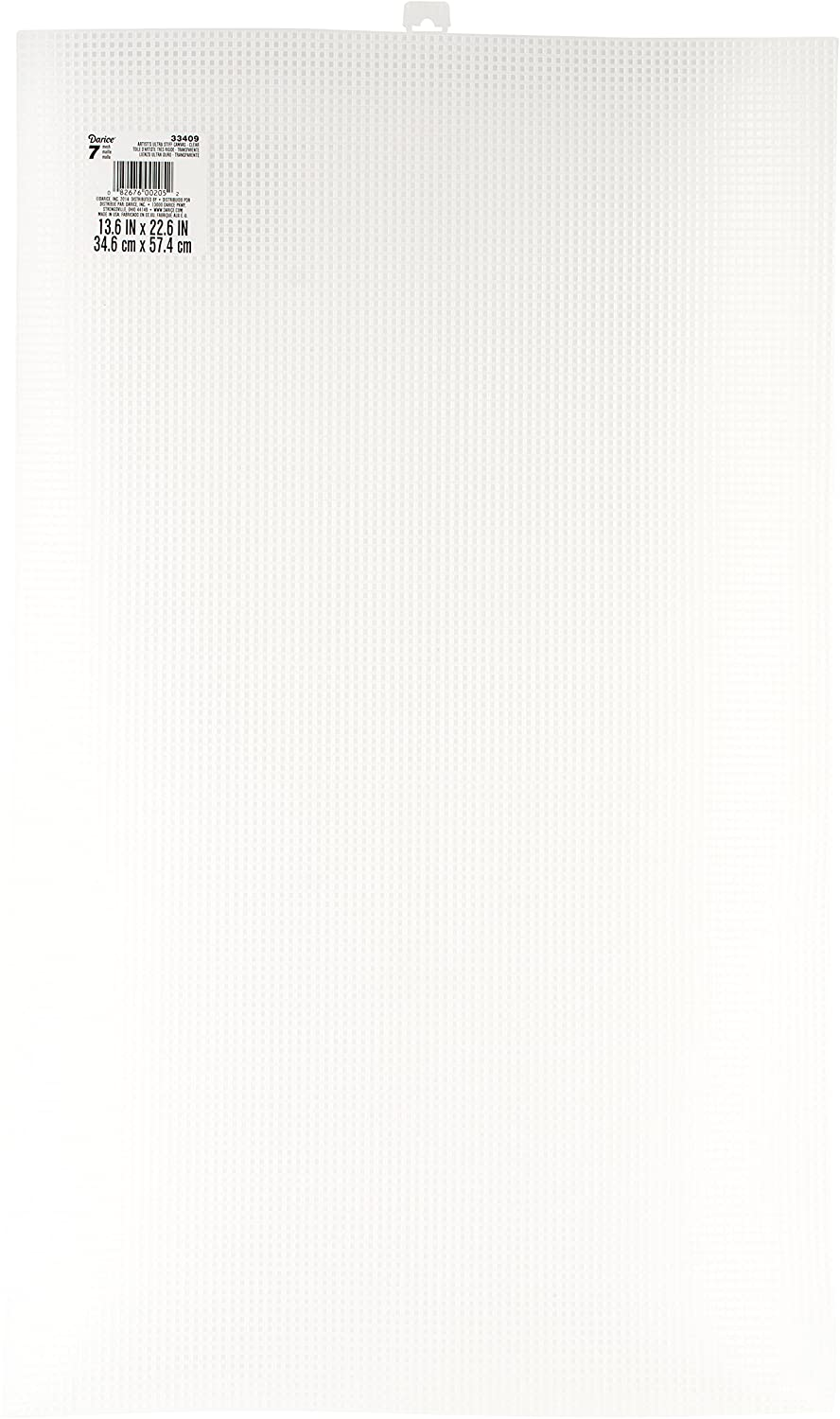 Darice Ultra-Stiff Plastic Canvas, Clear, 10.5 x 13.5-Inch 33418-1