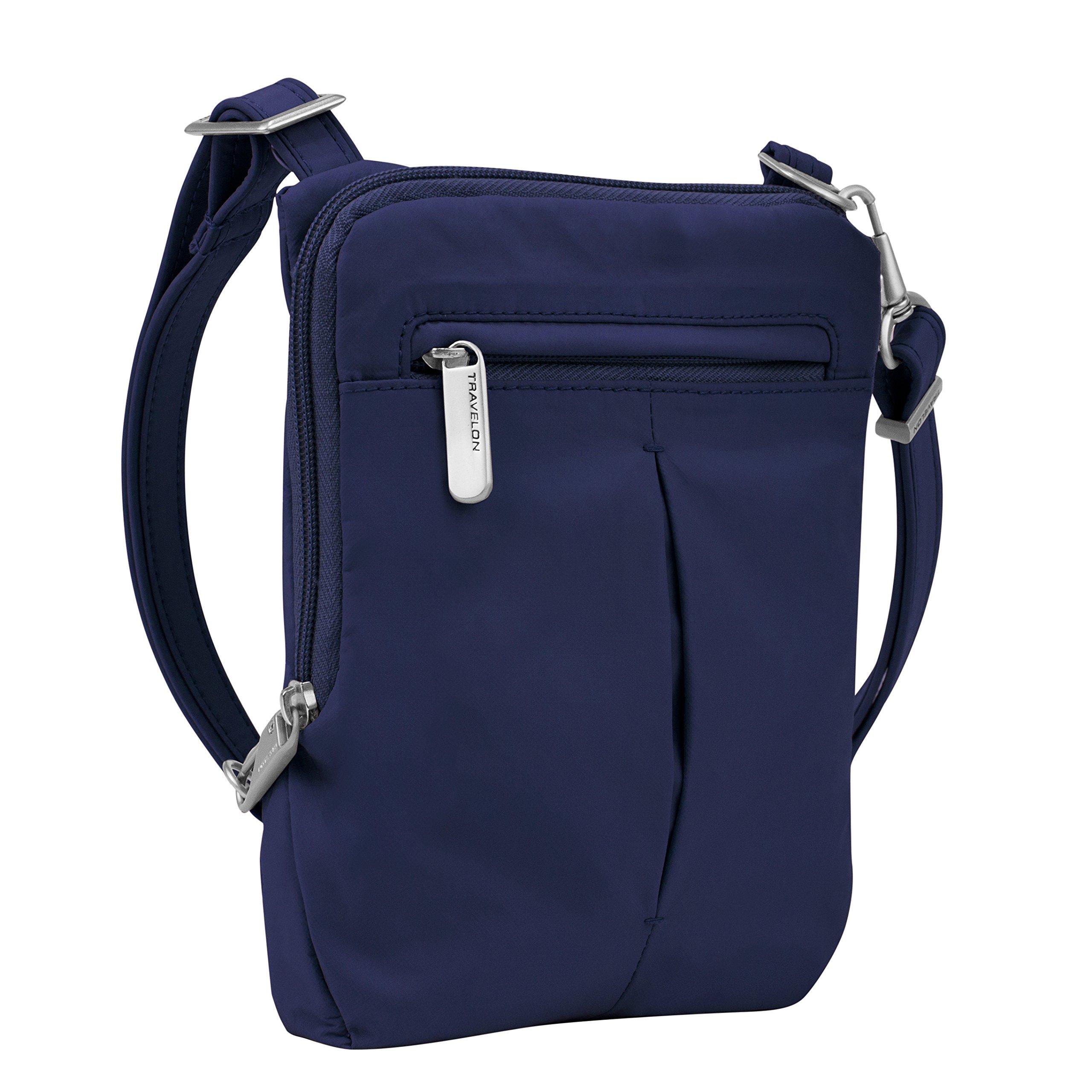 Travelon Anti-Theft Classic Light Mini Crossbody Bag, Lush Blue