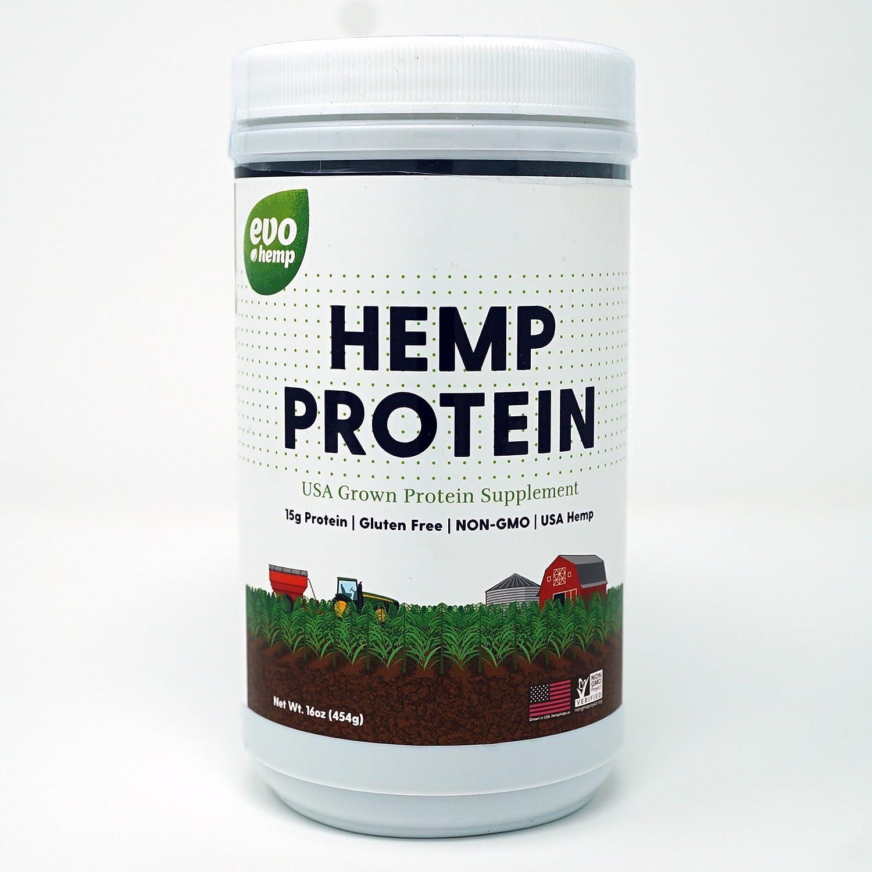 Evo Hemp U.S. Hemp 45% Protein Powder (1 Pound)