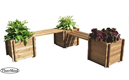 Admirable Amazon Com Organic Gardening Wood Planter Bench Set Niklas Uwap Interior Chair Design Uwaporg