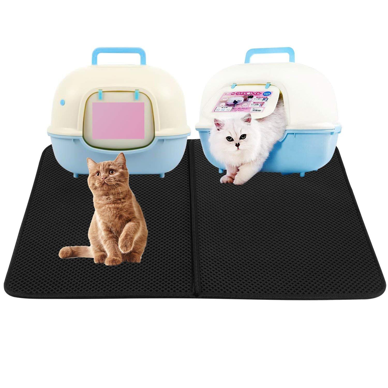 HOVNEE Estera de arena para gatos impermeable alfombra de basura ...