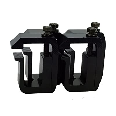 GCi STRONGER BY DESIGN G-1 Clamp for Truck Cap/Camper Shell Black Powder Coated (Set of 4). Made with Structural Aluminum to Ensure Quality and Strength.: Automotive