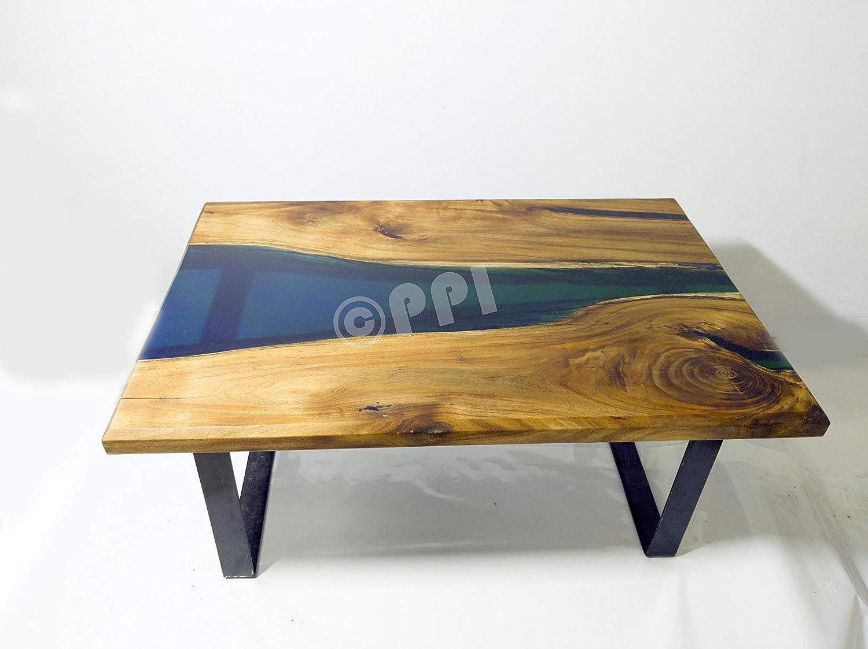 Acacia Wood Coffee Table Black Amazon In Home Kitchen