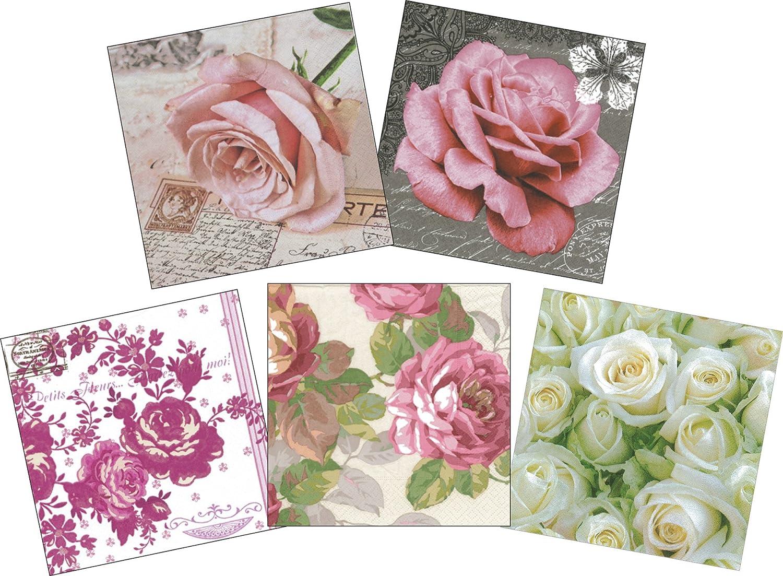 Decoupage Paper Paper Napkin Flower Pattern Random Three Pattern 3