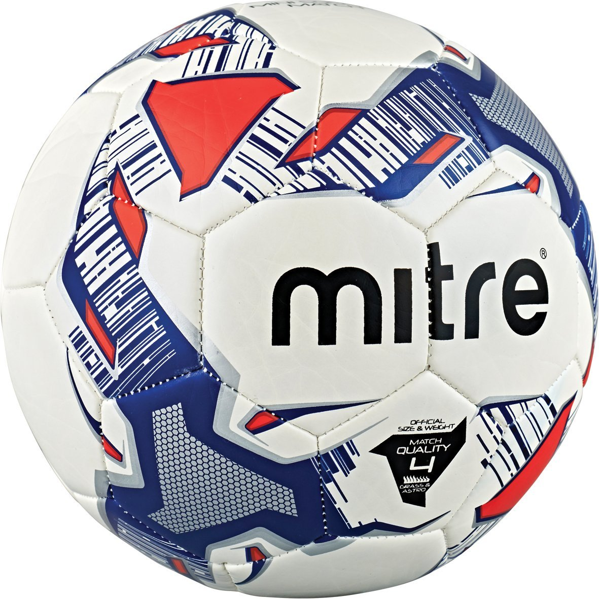 Mitre Mini Soccer Match Football - White/Blue/Silver, Size 3 ...