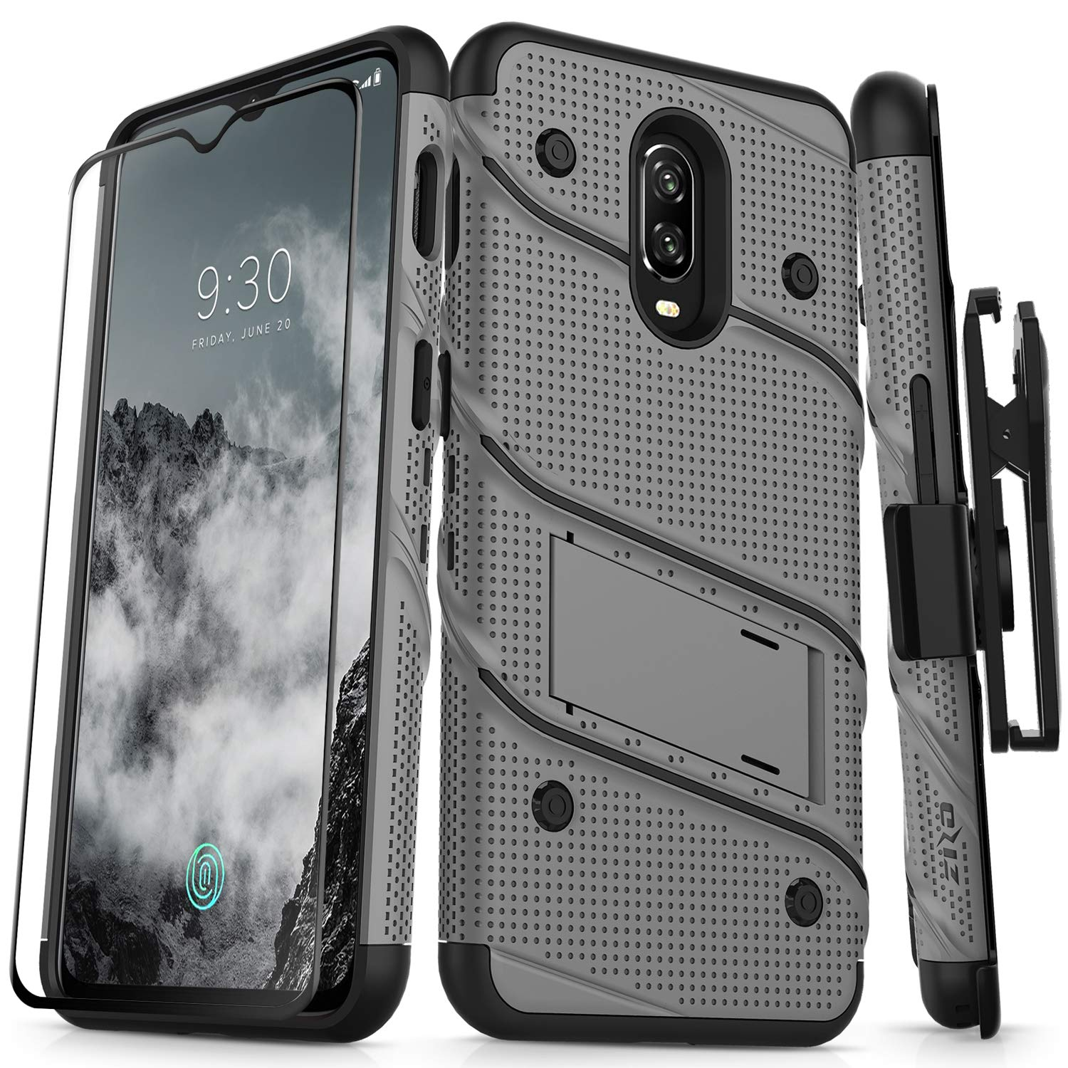 huge discount a7338 db1e8 Amazon.com: Zizo Bolt Series Compatible with OnePlus 6T Case ...