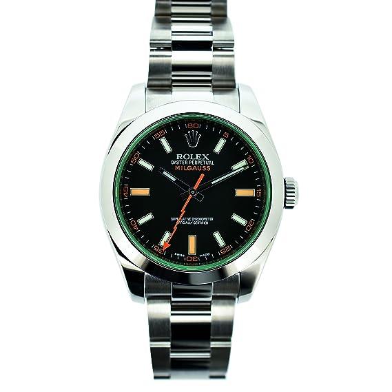 Mens 116400certificado Wind Self Automatic Reloj Rolex Milgauss UGSzMVqp