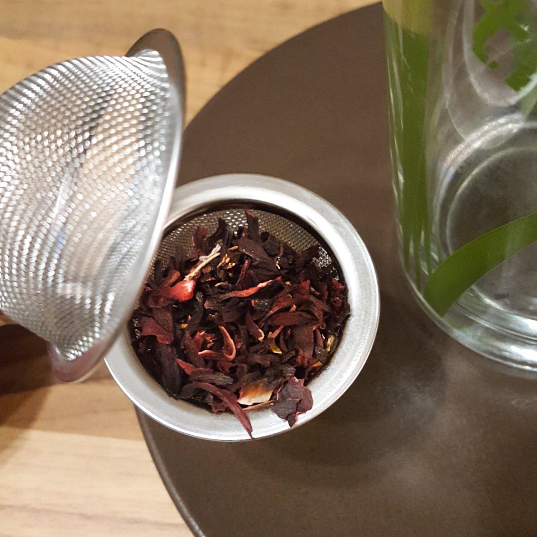 02 Pieces - /Ø 4.5 cm Tea strainers for Loose Tea Tea Lovers Tea Ball Made of Stainless Steel in Spherical Shape COM-FOUR/® 2X Tea Tongs