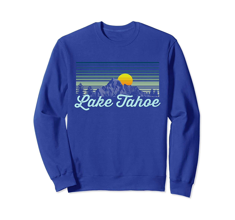 Lake Tahoe Nevada sweatshirt retro Style ski clothing-ln