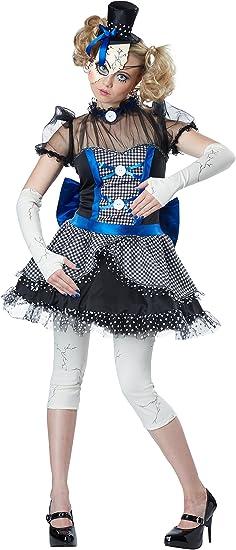 Disfraz de muñeca de porcelana rajada para mujer: Amazon.es ...