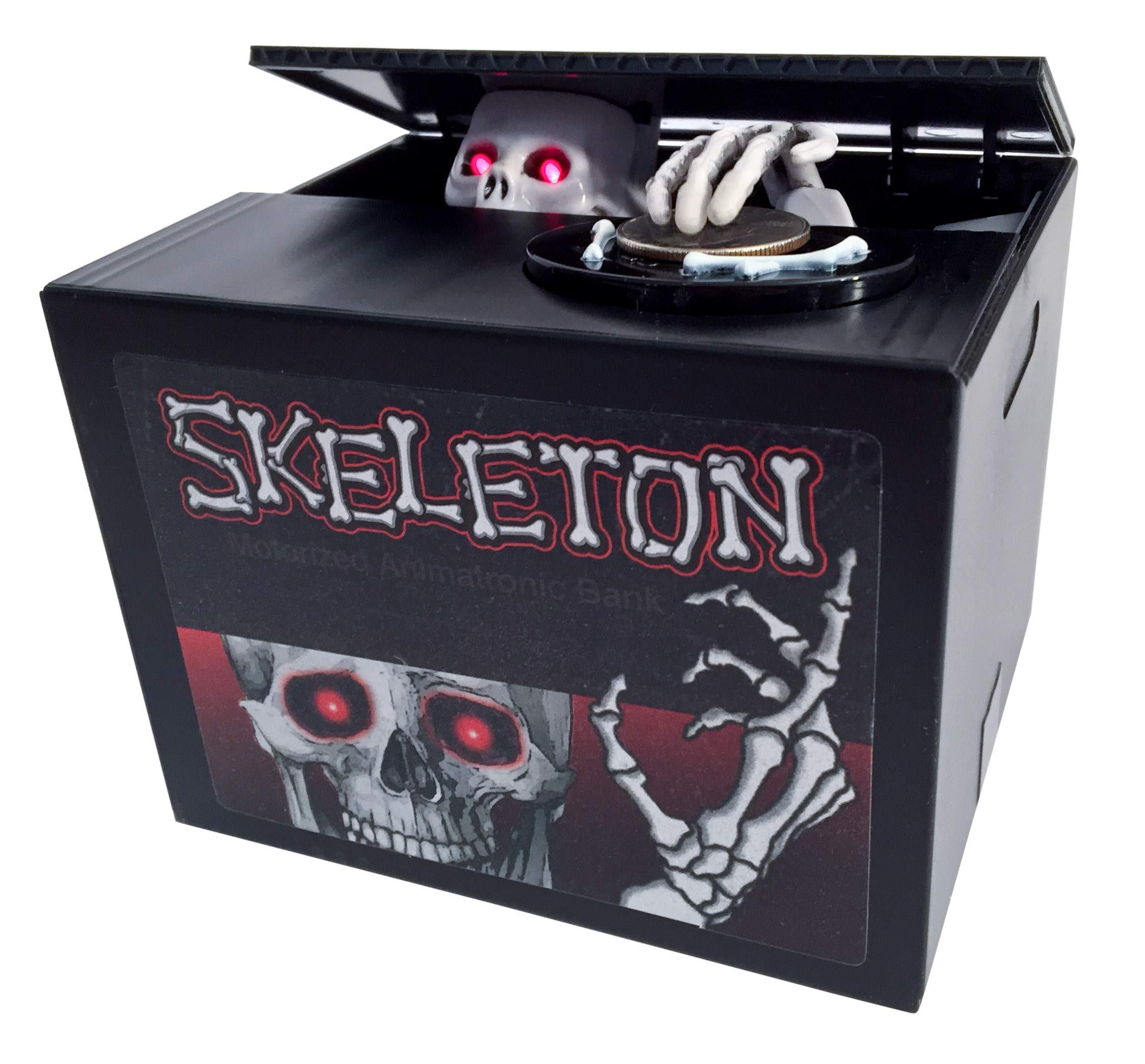 Spooky Skeleton Surprise Animatronic FX Coin Bank by Leading Edge