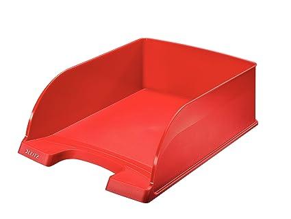 Leitz Bandeja portadocumentos Plus, Jumbo, A4, Rojo, 52330025 ...
