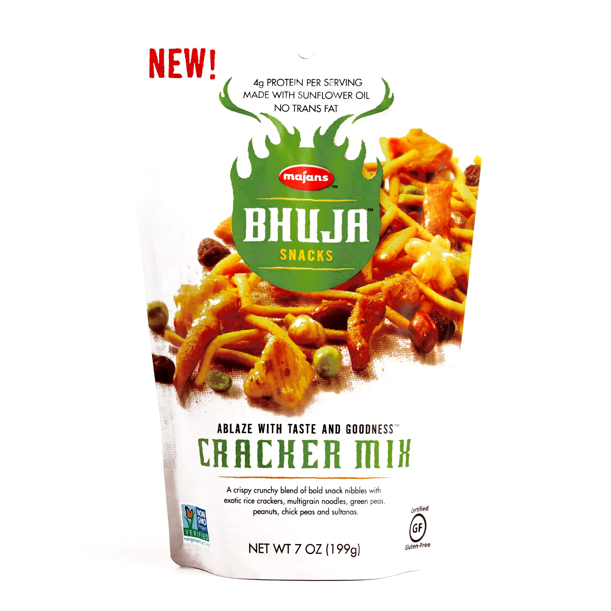 Bhuja Snacks Cracker Mix 7 oz each (6 Items Per Order)